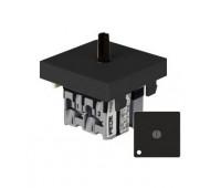 Переключатель перекрестный FEDE коллекции FEDE с подсветкой, черный, FD03131-M