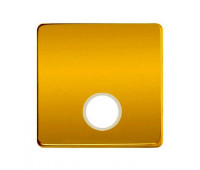 Накладка на розетку телевизионную FEDE FEDE МЕХАНИЗМЫ И НАКЛАДКИ, скрытый монтаж, real gold/бежевый, FD04315OR-A