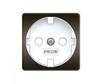 Накладка на розетку FEDE коллекции FEDE, скрытый монтаж, с заземлением, graphite/белый, FD04314GR