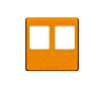 Накладка на мультимедийную розетку FEDE, скрытый монтаж, real gold/бежевый, FD04318OR-A