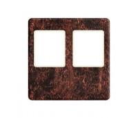 Накладка на мультимедийную розетку FEDE, скрытый монтаж, rustic cooper/бежевый, FD04318RU-A