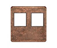 Накладка на мультимедийную розетку FEDE, скрытый монтаж, rustic cooper/черный, FD04318RU-M
