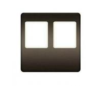 Накладка на мультимедийную розетку FEDE, скрытый монтаж, graphite/бежевый, FD04318GR-A