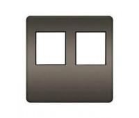 Накладка на мультимедийную розетку FEDE, скрытый монтаж, graphite/черный, FD04318GR-M