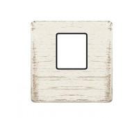 Накладка на мультимедийную розетку FEDE, скрытый монтаж, white decape/черный, FD04317BD-M