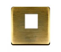 Накладка на мультимедийную розетку FEDE, скрытый монтаж, matt patina, FD04317PM-A