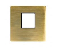Накладка на мультимедийную розетку FEDE, скрытый монтаж, matt patina, FD04317PM-M