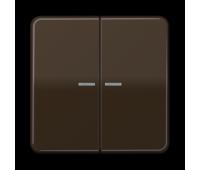 Клавиша двойная с линзами Jung CD 500, коричневый, CD595KO5BR