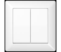 Клавиша двойная Jung AS 500, белый, AS590-5WW