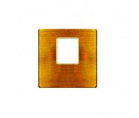 Накладка на мультимедийную розетку FEDE, скрытый монтаж, bright patina/бежевый, FD04317PB-A