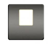 Накладка на мультимедийную розетку FEDE, скрытый монтаж, bright chrome/бежевый, FD04317CB-A