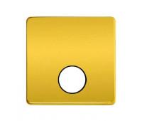 Накладка на розетку телевизионную FEDE, скрытый монтаж, real gold/черный, FD04315OR-M