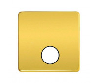Накладка на розетку телевизионную FEDE, скрытый монтаж, bright gold/черный, FD04315OB-M
