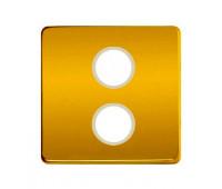 Накладка на розетку телевизионную FEDE, скрытый монтаж, real gold/бежевый, FD04316OR-A