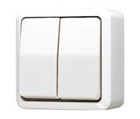 Выключатель 1-клавишный Jung AP600, белый, 605AWW