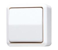 Выключатель 1-клавишный Jung WG600, белый, 606AWW