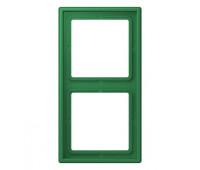 Рамка 2 поста Jung LS 990 LE CORBUSIER, vert foncé, LC98232050
