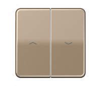 Клавиша для жалюзийного выключателя Jung CD 500, бронзовый, CD595PGB