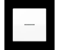 Клавиша с линзой Jung AS 500, белый, AS591KO5BFWW