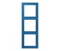 Рамка 3 поста Jung LS 990 LE CORBUSIER, bleu céruléen 31, LC98332030