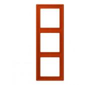 Рамка 3 поста Jung LS 990 LE CORBUSIER, rouge vermillon 59, LC9834320A