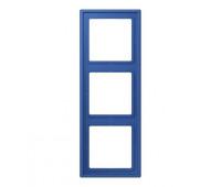 Рамка 3 поста Jung LS 990 LE CORBUSIER, bleu outremer 59, LC9834320K