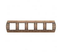 Рамка 5 постов FEDE SAN REMO, горизонтальная, rustic cooper, FD01425RU