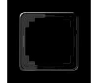 Рамка 1 пост Jung CD PLUS, черный, CDP581SW