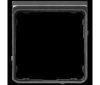 Внешняя рамка Jung CD 500, черный металлик, CDP82SWM