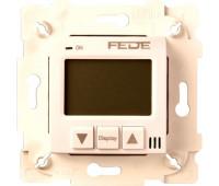 Термостат комнатный FEDE FEDE МЕХАНИЗМЫ И НАКЛАДКИ, с дисплеем, бежевый, FD18001-A