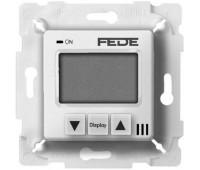Термостат для теплого пола FEDE FEDE МЕХАНИЗМЫ И НАКЛАДКИ, с дисплеем, с датчиком, белый, FD18000