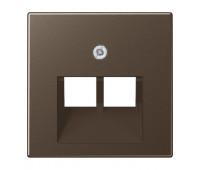 Накладка на розетку информационную Jung А-СЕРИЯ, скрытый монтаж, мокко, A569-2BFPLUAMO