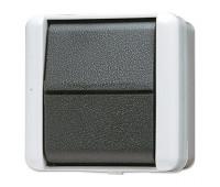 Выключатель 1-клавишный Jung WG800, серый, 806W