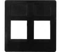 Накладка на розетку информационную FEDE FEDE МЕХАНИЗМЫ И НАКЛАДКИ, скрытый монтаж, черный, FD17797-M