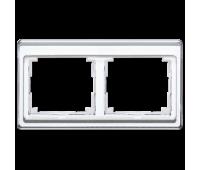 Рамка 2 поста Jung SL 500, горизонтальная, белый, SL5820WW