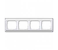 Рамка 4 поста Jung SL 500, горизонтальная, белый, SL5840WW