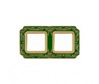 Рамка 2 поста FEDE, emerald green, FD01362VEEN