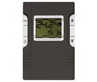 Термостат для теплого пола FEDE FEDE МЕХАНИЗМЫ И НАКЛАДКИ, с дисплеем, с датчиком, черный, FD18003