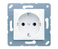 Розетка Jung CD 500, скрытый монтаж, с заземлением, белый, CD120WW