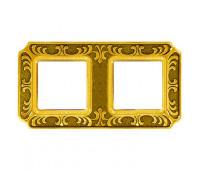 Рамка 2 поста FEDE SIENA, bright gold, FD01352OB
