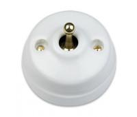 Кнопка тумблерная Fontini DIMBLER, золото/белый, 60312432