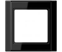 Рамка 1 пост Jung A 500, черный, A581SW