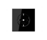 Розетка Jung LS 990, скрытый монтаж, с заземлением, черный, LS1520SW