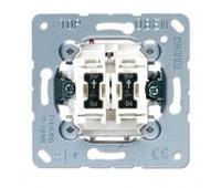 Механизм выключателя 2-клавишного Jung коллекции JUNG с подсветкой, 505U5