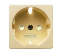 Накладка на розетку FEDE коллекции FEDE, скрытый монтаж, бежевый, FD17722-A