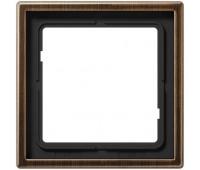 Рамка 1 пост Jung LS METAL, античная латунь, ME2981AT