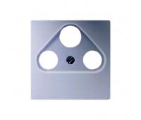 Накладка на розетку телевизионную Jung А-СЕРИЯ, скрытый монтаж, алюминий, A561PLSATAL