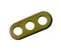 Рамка 3 поста Fontini GARBY COLONIAL, зеленый, 31803332