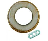 Рамка 3 поста Fontini GARBY COLONIAL, серо-золотой, 31803362