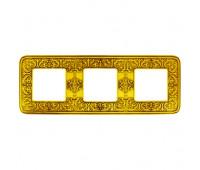 Рамка 3 поста FEDE EMPORIO, bright gold, FD01373OB